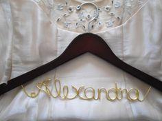 Bridal hanger Personalized Bridal Dress Hanger by ClosedCaptions, $21.99