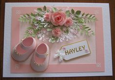 Christening card for Hayley.