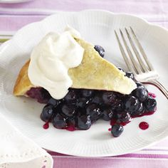 Buttery Blueberry Pie