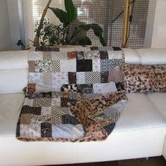 Plaid  patchwork doublé fourrure minky