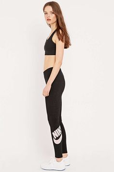 Nike Leg-A-See Logo Leggings in Black - Urban Outfitters