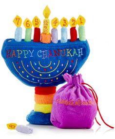 Rite Lite Plush Menorah | #hanukkah #chanukkah #chanukah #decor #holiday