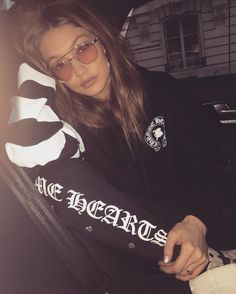 "481.6k Likes, 1,519 Comments - Gigi Hadid (@gigihadid) on Instagram: ""CHROME HEARTS✖️BELLA everything love you !! and so proud of you !!! @bellahadid @jessejostark """