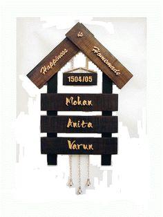 Handmade Name Plates Terracotta Home Nameplate   Craftfurnish.