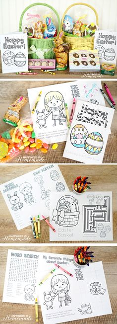 Printable Easter Coloring Book - free printable Easter coloring & activity book with a maze, word search, tic tac toe & more!