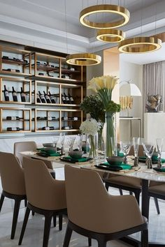 Modern Dining Room Plancolorss Modern Room and Interior Design Clean Lines and Muted soft Luxury Dining Tables, Luxury Dining Room, Dining Table Design, Dining Room Lighting, Dining Chairs, Sofa Tables, Room Chairs, Inspiration Design, Dining Room Inspiration
