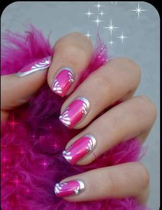 Pink and silver design