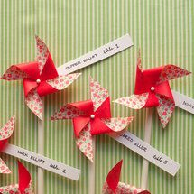 Pinwheel Escort Cards - Pinwheel Escort Cards
