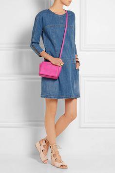MICHAEL Michael Kors|Selma mini textured-leather shoulder bag | net-a-porte...