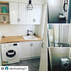 Kaboodle can also be used in the laundry or bathroom! Laundry Cupboard, Laundry Doors, Laundry Dryer, Laundry In Bathroom, Linen Cupboard, Small Laundry, Laundry Room Layouts, Laundry Room Organization, Timber Benchtop