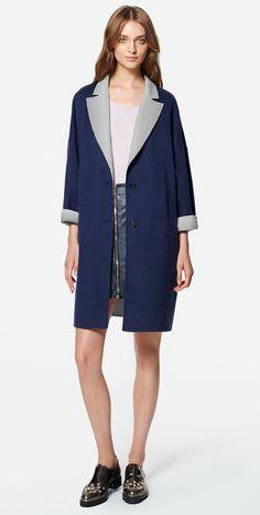 MAX&Co. SS 2016 - Coat CALA / Sweater COMPUNTO / Leather Mini Skirt PABLO / Shoes AFELIO