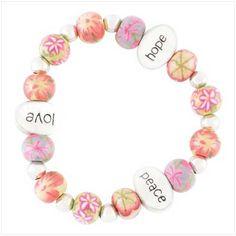 Pretty bracelet. love, peace, hope