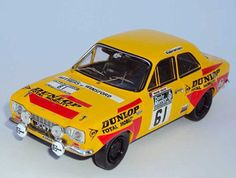 Trofeu 1:43 Ford Escort Diecast Model Car 544 This Ford Escort MkI (Rosemary Smith - Dunlop RAC Rally 1972) Diecast Model Car is Orange and has working wheels and also comes in a display case. It is made by Trofeu and is 1:43 scale (approx. 9cm / 3.5in long).  #Trofeu #ModelCar #Ford