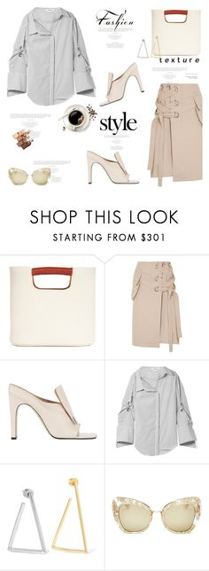 """""""Buzz-Worthy: Coffee Date"""" by lidia-solymosi ❤ liked on Polyvore featuring Simon Miller, Sacai, Beaufille, Monse, Jennifer Fisher, Dolce&Gabbana, Maybelline and CoffeeDate"""