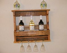 Estante del vino por BilleterCreations en Etsy