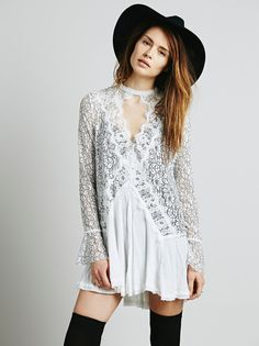 ORMELL #Lace Chiffon Patchwork #MiniDress Long Sleeve Back Split Ladies Autumn