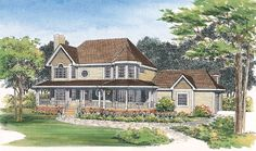 Victorian House Plan chp-19795 at COOLhouseplans.com
