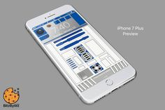R2-D2 Starwars - iPhone Background Wallpaper - mobile cell phone personalized lockscreen background - Ringtone by BitzBytez on Etsy