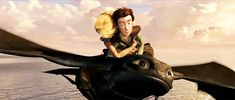 How to Train Your Dragon - Look the way Astrid hugs Hiccup, her life is really in danger!