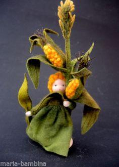 Elfen-Mais-Jahreszeitentisch-Amrei-Blumenkind-Filz-Unikat-Schafswolle