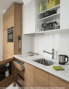 petite cuisine bois plan de travail blanc castorama maison cuisine pinterest design. Black Bedroom Furniture Sets. Home Design Ideas