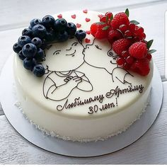 Tag your bestfriend friends kiss cake 🍓🍓👫 repost This cake is so original! I am fan! Hers hairs are so… Birthday Drip Cake, Birthday Cake For Husband, Birthday Wishes Cake, Cute Birthday Cakes, Cake Decorating Videos, Birthday Cake Decorating, Cake Decorating Supplies, Cake Decorating Techniques, Anniversary Cake Designs