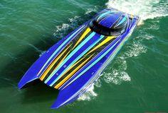 52' MTI with twin Mercury Racing 1350's