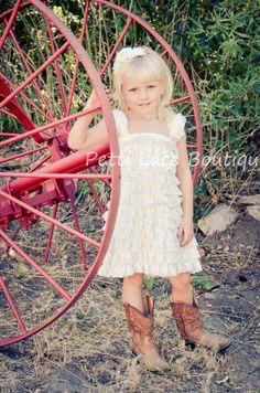 Lace dress, Ivory dress, girls dress, Christening dress, flower girl, birthday dress, baby dress, toddler dress on Etsy, $27.99
