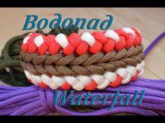 """Паракорд Плетение браслета """"Водопад"""" (Paracord bracelet Wide waterfall)"""