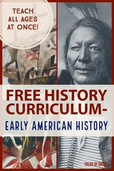 FREE Early American History Curriculum – Vikings through the Civil War. Daily plans and hands-on activities… perfect to teach all ages at once ! - Free Early American History Curriculum - Fields of Daisies American History X, Teaching American History, Teaching History, Native American Humor, European History, History Classroom, History Teachers, History Education, History Timeline