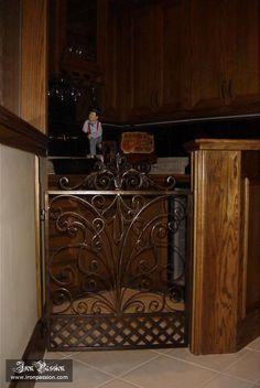 Child or Pet Protective Gates | IP-CG-0054 | Dallas Home Improvement | Ornamental Wrought Iron | Decorative | Iron Passion