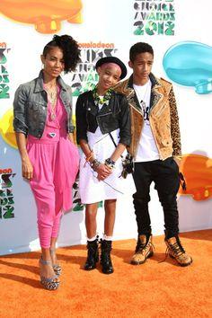 Jaden, Jada and Willow Smith at Kids Choice Awards
