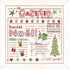 La gazette de Noël - Lilipoints - A broder au point de croix