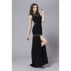 Sexy Illusion Sheath Sleeveless Floor Length Silk Prom Dress 2017 - OACHY The Boutique #prom, #sheath, #length, #sexy, #sleeveless