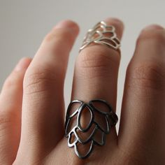 Eastern Flower Ring  Sterling Silver by anatomi on Etsy, $60.00