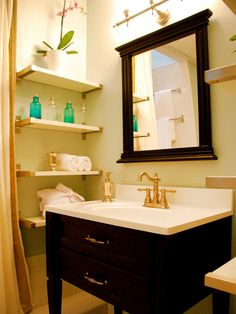 Corner Solutions - 13 Ways to Decorate With Floating Shelves on HGTV
