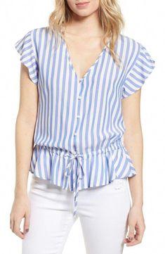Women's Rails Ruffle Shirt, Size X-Small - Blue Casual Tops For Women, Blouses For Women, Blouse Styles, Blouse Designs, Latest Fashion For Women, Womens Fashion, Ruffle Shirt, Shirt Blouses, Shirts