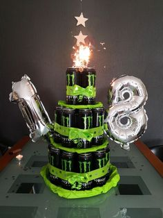 Monster Energy Torte I made this Monster Energy canned cake for my brother for my birthday.