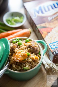 One Pot Asian-Inspired Pork & Rice | Use Minute® Brown Rice for this delicious and hearty meal. Powerful flavors come together to create an explosion of flavor in your mouth. One bite, and you will want to make this again and again. Perfect Asian-inspired dinner great any day of the week! AD MinuteMealsSweeps