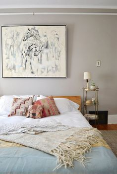 Beautiful Bedrooms: 15 Paint Colors to Consider for Winter 2014 (Apartment Therapy Main) Home Bedroom, Bedroom Decor, Calm Bedroom, Serene Bedroom, Bedroom Apartment, Casual Bedroom, Bedroom Ideas, Bedroom Artwork, Shabby Bedroom