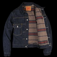 UNIONMADE - Levi's Vintage Clothing - 1953 Type II Jacket Blanket Lined Rinse