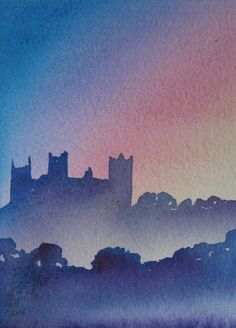 Title: Bolton Castle Medium: Watercolour Size (h w d): 7.0 x 5.0 in Price: £165.00 enquiry@mashamgallery.co.uk