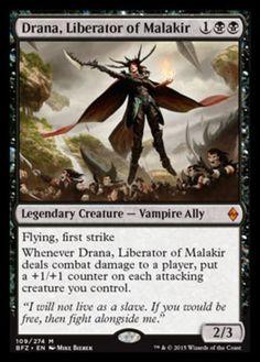 Drana, Liberator of Malakir mtg Magic the Gathering black mythic rare card