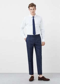 Slim-fit tailored cotton shirt - Shirts for Men | MANGO Man USA