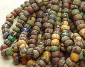 32/0 (7x5mm) Matte Opaque African Safari Picasso Czech Glass Seed Bead Strand