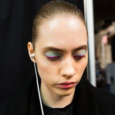 Oscar de la Renta Fall 2017 Rainbow Eye Makeup Beauty Look