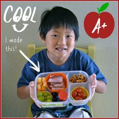 My son loves to help in the kitchen and has decided he wants to start making his own lunch once a week | with #EasyLunchboxes
