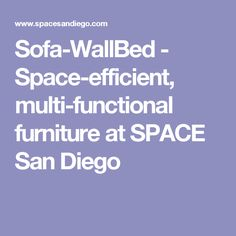 Sofa-WallBed - Space-efficient, multi-functional furniture at SPACE San Diego