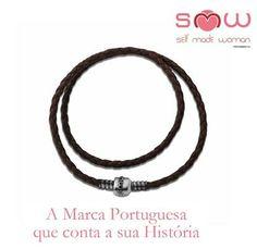 Pulseira Couro SMW Couro Castanho Chocolate | Prata de Lei 925 1SMW902A.1