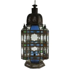A Large 20's Moroccan Lantern | From a unique collection of antique and modern lanterns at https://www.1stdibs.com/furniture/lighting/lanterns/